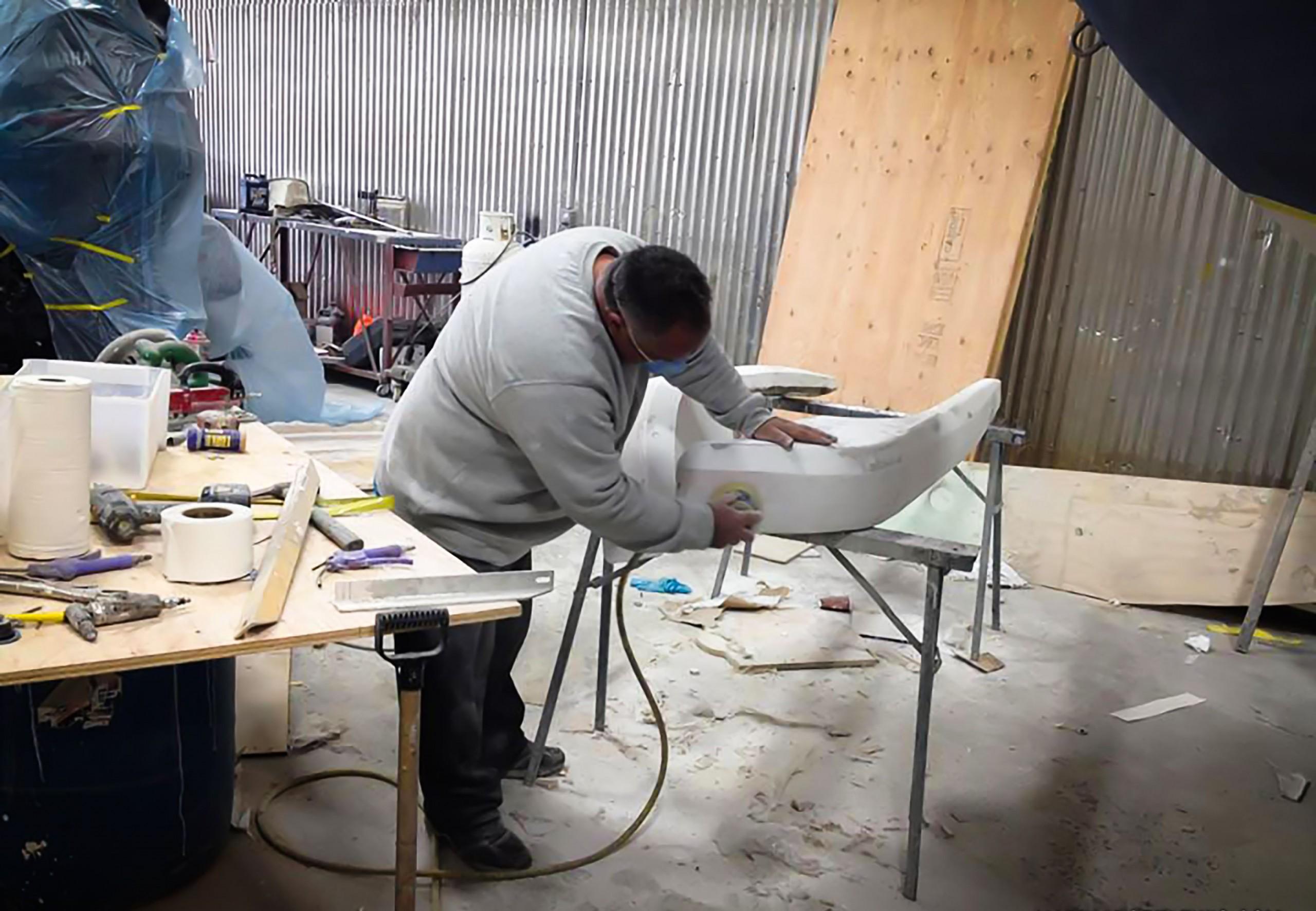 Réparation, fibre de verre et esthétique